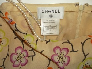 Chanel Spring Floral Camellia Made In France Skirt Multi-Color