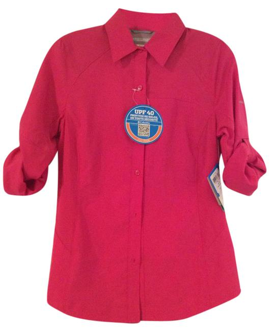 Columbia Sportswear Company Button Down Shirt Pink