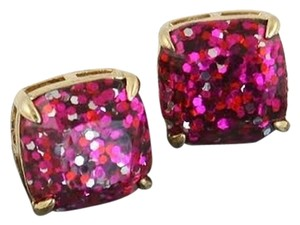 Kate Spade NEW Kate Spade Pink Glitter Studs Earrings - 12k Gold