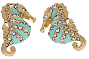 Kate Spade NEW Kate Spade Paradise Found Seahorse Stud Earrings - 12k Gold