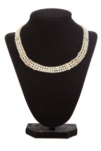 Chanel Chanel Pearl & Crystal Three-Strand Necklace