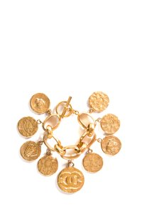 Chanel Chanel Gold-Tone Limited Edition Charm Bracelet