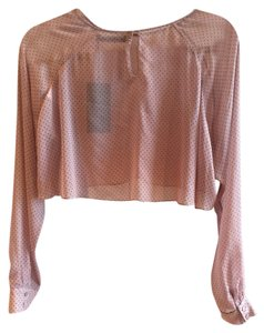 Zara Sheer Cropped Top Pink