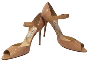 Jimmy Choo Tan patent leather Pumps