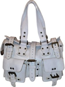 Mulberry Roxanne Leather Studded Satchel in White