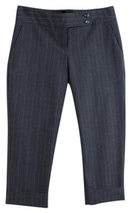 The Limited Capris Gray Pinstripe