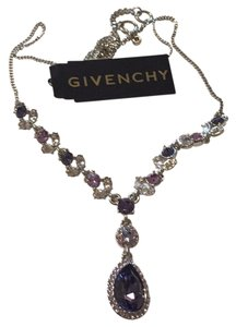 Givenchy Swarovski element crystal silver tone necklace