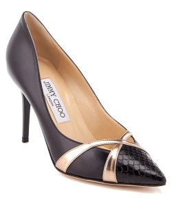 Jimmy Choo Pointy Toe Metallic Black Heels Pointed Toe Anthracite Pumps
