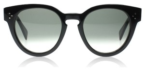 Cline NEW Celine Thin Preppy Black Round Sunglasses