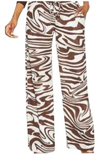 Michael Kors Wide Leg Pants Brown print