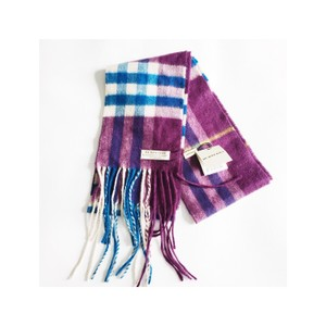 Burberry Cashmere Bright Peacock Check Scarf