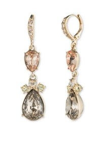 Givenchy Swarovski Element Women's Gold Tone double drop earring