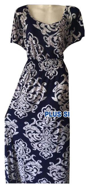 Preload https://img-static.tradesy.com/item/21192997/navy-new-3-color-choices-damask-long-casual-maxi-dress-size-22-plus-2x-0-1-650-650.jpg