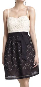 Anthropologie Strapless Sweetheart Lace Tulle Dress