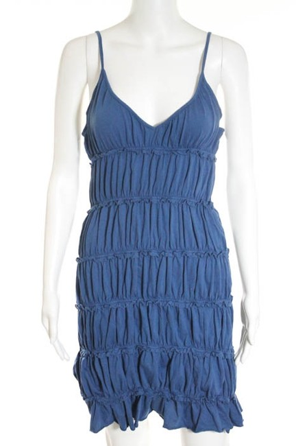Rebecca Beeson short dress blue Stretchy Stretch Ruching Ruched Spaghetti Strap Small Elastic Summer Spring Mini Above Knee Length 2 4 6 on Tradesy