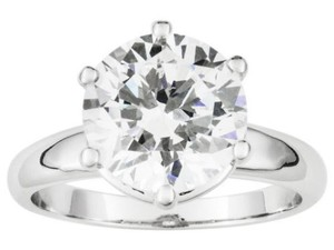 ELLE CROSS 6.05ct Brilliant Cut Solitaire Platinum Sterling Silver 926 Ring