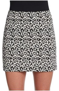 Tibi Mini Skirt leopard print (black white gray)