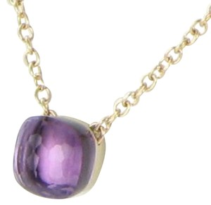 "Pomellato Medium Nudo Amethyst Pendant 16"" Necklace 18k Rose Gold"