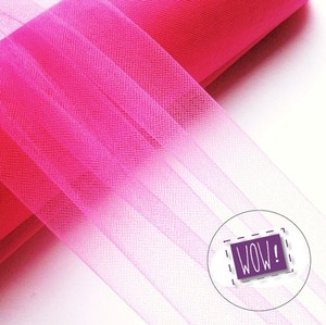 25yds Bright Pink 12in Tulle Fabric