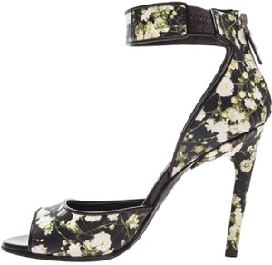 Givenchy Nenna Baby's Breath Ankle Strap Heels Floral Sandals