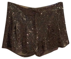 bebe Mini/Short Shorts gold sequin