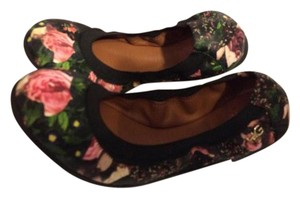 Givenchy Ankle Strap Heels Rose Floral Flats
