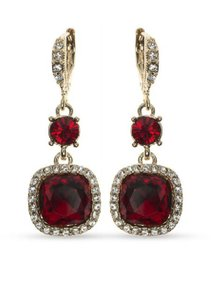 Givenchy Swarovski Crystals Gold-Tone, Gold-Tone Drop Earrings