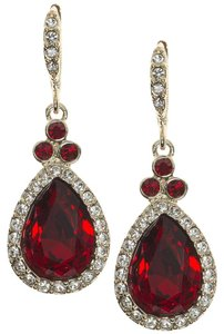 Givenchy Swarovski Crystals Gold-Tone, Faceted Teardrop Drop Earrings
