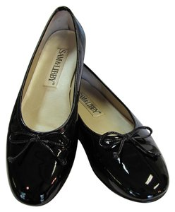 Sam & Libby Size 7.50 M Patent Very Good Condition Black, Flats