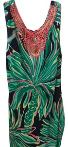 Lilly Pulitzer short dress navy/tiger palm pattern on Tradesy