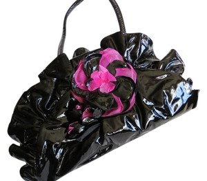 Renato Angi Patent Leather Shoulder Bag