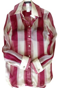 Dolce&Gabbana Striped Dolce Wine Pink Set Top Multi