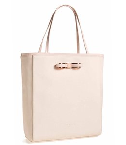 Ted Baker Saffiano Blush Rose Gold Tote in Nude Pink