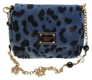 Dolce&Gabbana Dolce Leopard Evening Demin Shoulder Bag