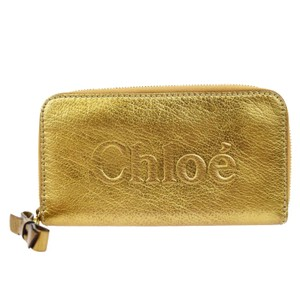 Chloé Gold Leather Bifold Wallet
