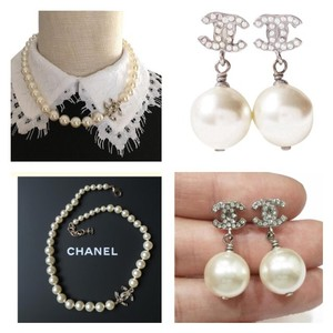 Chanel Channel AUTHENTIC NECKLACE AND EARRINGS SET