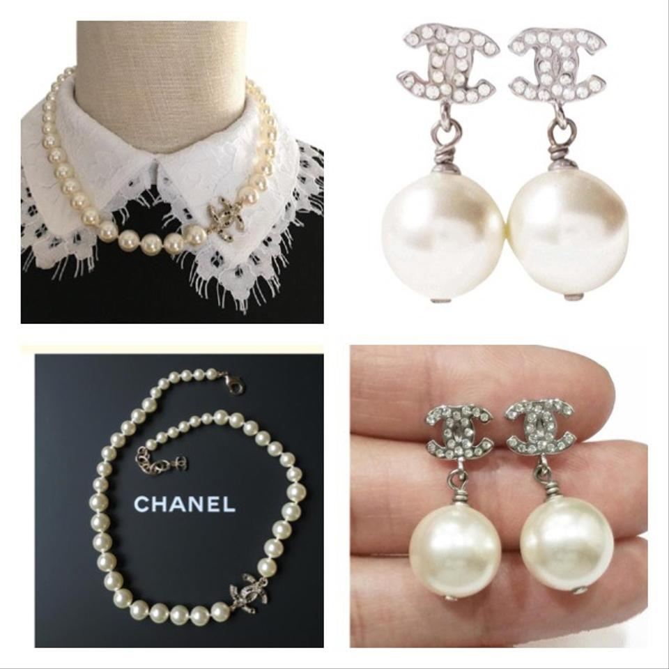 Chanel necklace and earring set : Chanel and earrings set necklace tradesy