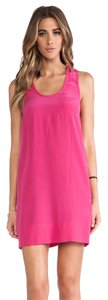 Joie short dress hot pink on Tradesy