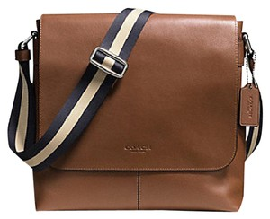 Coach Cross Body File Laptop Charles Messenger Brown Messenger Bag