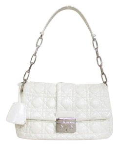 Dior Christain Leather White Shoulder Bag