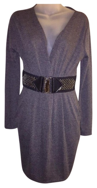 Item - Long Sleeve V Neck Sweater Short Casual Dress Size 8 (M)