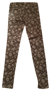 Uniqlo Floral Date Night Casual Night Out Denim Skinny Jeans-Light Wash