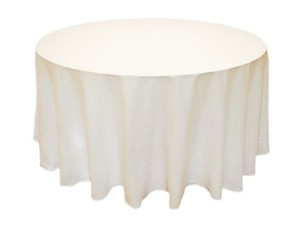 (5) Brand New Ivory Round Polyester Tablecloths