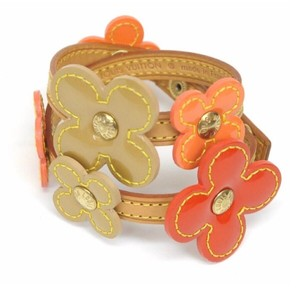 Louis Vuitton Vernis Flower Double Wrap Bracelet