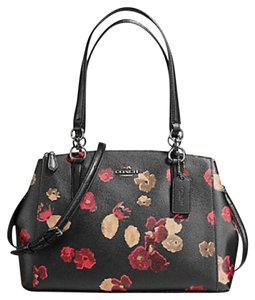 Coach Madison 36718 Christie Carryall Satchel in ANTIQUE NICKEL/BLACK MULTI