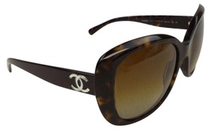 Chanel CHANEL 5183 Tortoise Over-sized Butterfly Polarized Sunglasses