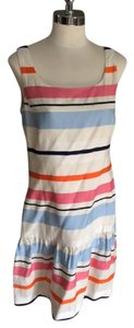 J.McLaughlin short dress White Orange Blue Stripe on Tradesy