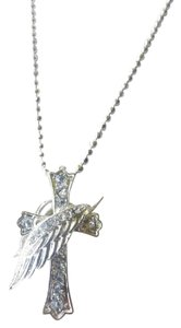 Elegance by Carbonneau LONG NECKLACE HAS DIAMOND CROSS WITH WING!!