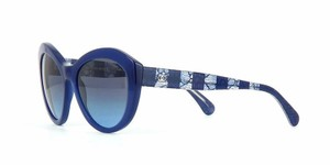 Chanel CHANEL Sunglasses AUTHENTIC 5294 Blue Opal Cat Eye Lace
