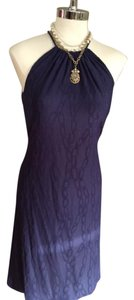 J.McLaughlin short dress Blue Jacquard on Tradesy